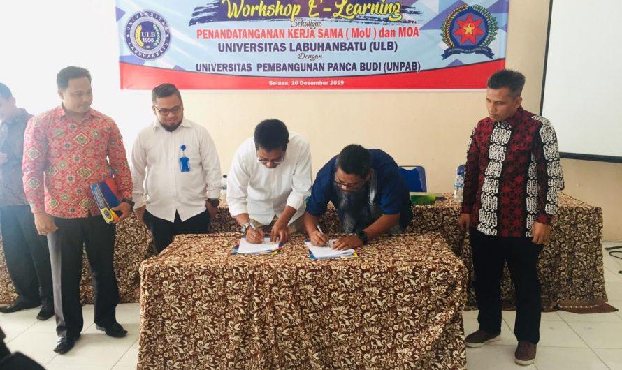 Penandatanganan  MoU Dan MoA Antara Kampus Universitas Labuhan Batu (ULB) Dengan Universitas Pembangunan Panca Budi (UNPAB)